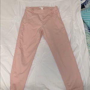 Pastel pink stretchy H&M Work pants
